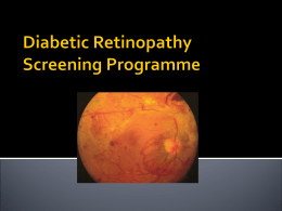 Diabetic Retinopathy Screening Programme