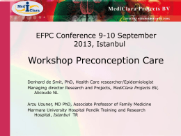 Dia 1 - European forum for primary care