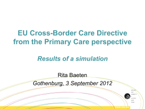 Cross border healthcare simulation for the Primary Care perspective