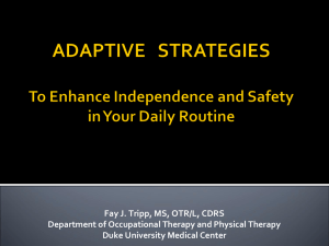 Maximizing Independence Through Adaptive Techniques and
