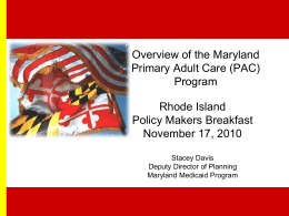 Primary Adult Care (PAC): An Overview