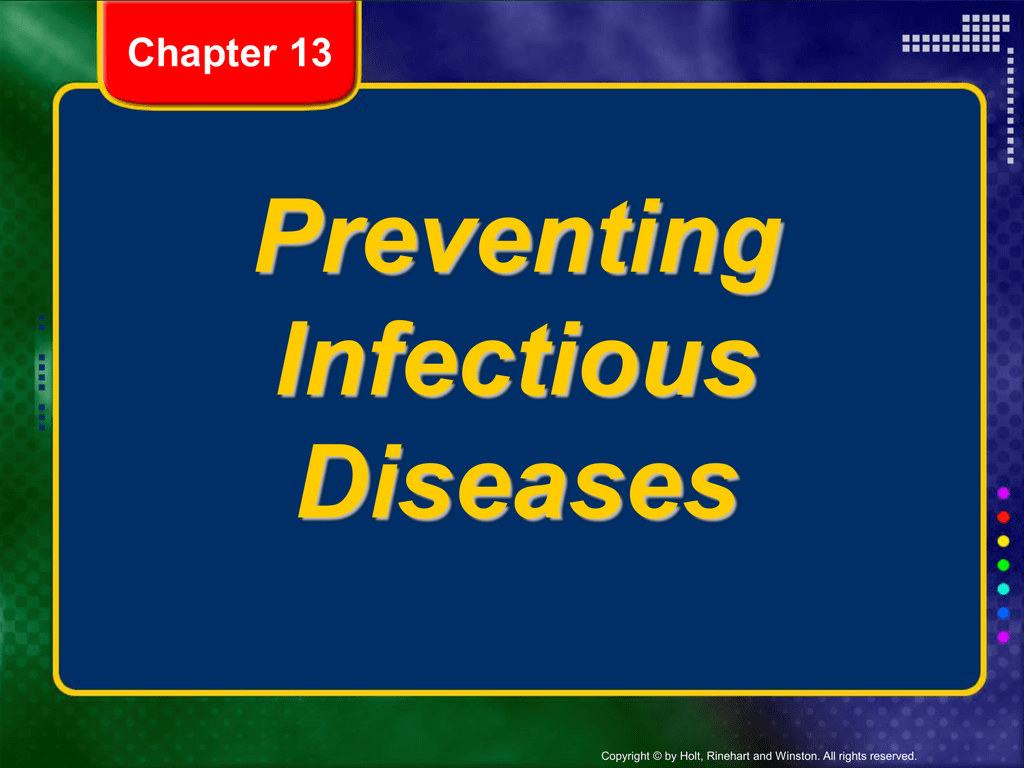 prevention of communicable diseases Gshrm chapter 4 page 2 communicable diseases and infection control school nurses can assist schools and school districts with infectious disease prevention policies, programs and training.