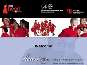 The Heart Truth for Women: A Speaker`s Guide Presentation