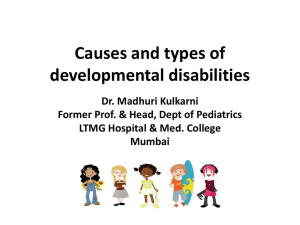 Causes and types of disabilities - Tata Interactive Learning Forum