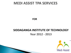 MEDI ASSIST TPA SERVICES - Siddaganga Institute of Technology