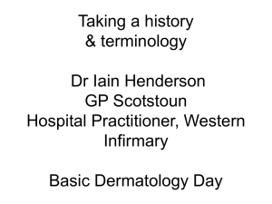 Taking a history & terminology Dr Iain Henderson GP