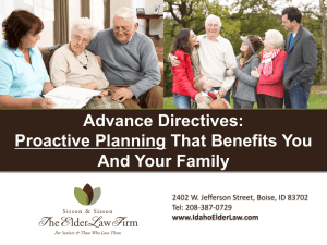 Idaho State Employees Advance Directives 2013