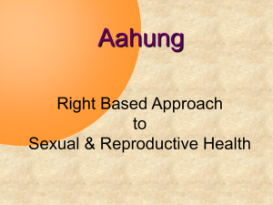 Right Based approach to SRH, Aahung