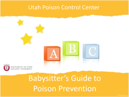 PRESENTATION NAME - Utah Poison Control Center