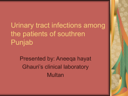 Urinary tract infec