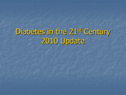 2010update - New Mexico Health Care Takes on Diabetes