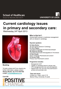 Current cardiology issues in primary and secondary
