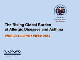 World Allergy Week 2012 Powerpoint slides