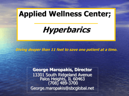 Mild Hyperbaric Therapy - HyperbaricTherapyCenterofRome.com