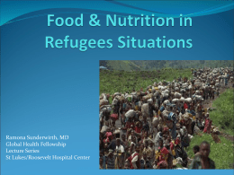 Food & Nutrition in Emergencies