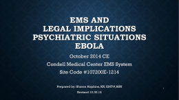 October 2014 - CE Legal and Psych for EMS