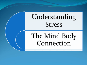 Understanding Stress - The Mind Body Conection