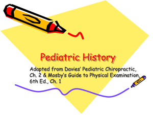 Pediatric History and Exam