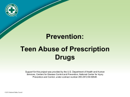 Teen Prescription Drug Abuse PowerPoint