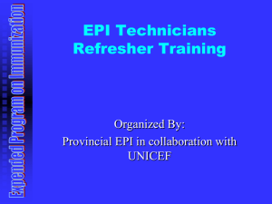 Training of Trainers For EPI