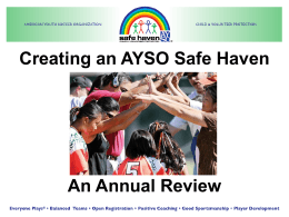Creating A Safe Haven - An Annual Refresher Powerpoint