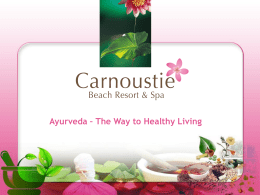 Ayurveda - Carnoustie Resorts