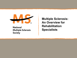 Rehabilitation Professionals - National Multiple Sclerosis Society