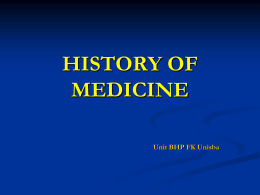 TRENDS IN 20 th CENTURY MEDICINE