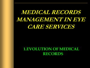 Evaluation of medical records