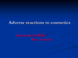 Adverse reactions to cosmetics
