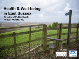 Health and Well being in East Sussex powerpoint presentation
