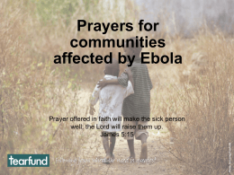 Prayers for Communities Affected by Ebola