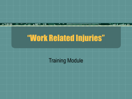 Work Related Injuries - Summit County Safety Council