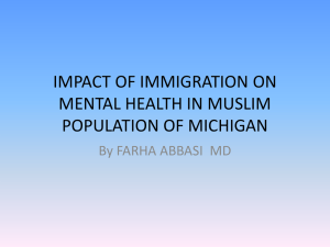 impact of immigration on mental health in muslim population