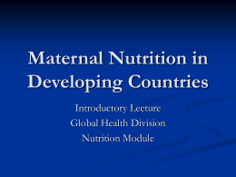 maternal-nutrition-in-developing-countries
