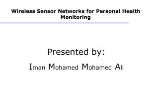 Wireless Sensor Networks for Personal Health Monitoring