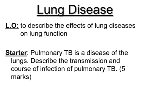 Lung Disease - misslongscience