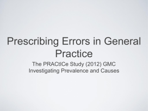 Prescribing Errors in GP