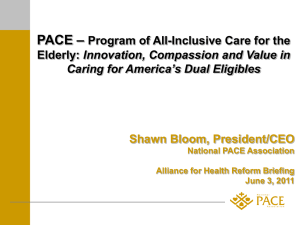 Shawn Bloom Presentation - Alliance for Health Reform