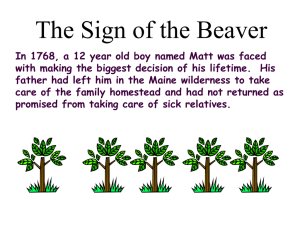 Sign of the Beaver ppt