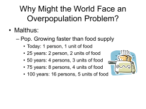 Why Might the World Face an Overpopulation