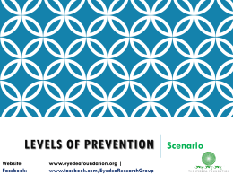 levels of prevention scenarios