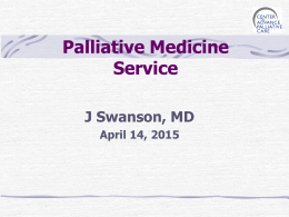 Palliative Care Powerpoint - Fox Valley Health Professionals