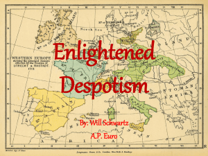 Enlightened Despotism - Oak Park Unified School District