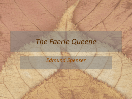 The Faerie Queene - marinellienglishclass