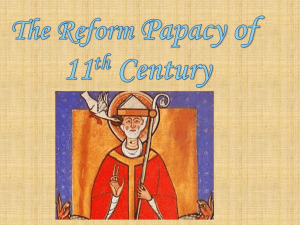 The reform papacy powerpoint