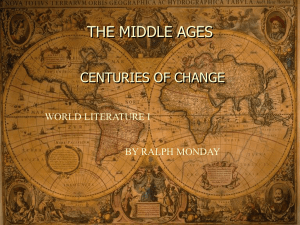 THE MIDDLE AGES - Roane State Community College
