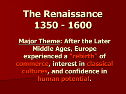 Renaissance: The Italian City-States