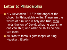 Revelation Philedelphia 6