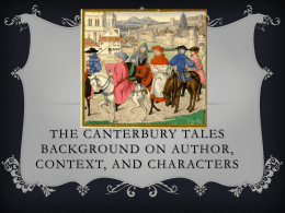 Canterbury Tales Intro PowerPoint
